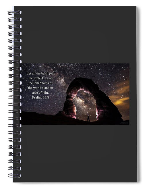 Stand In Awe Of Him - Spiral Notebook - Love the Lord Inc