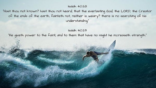 Surfer - He Gives Strength - Art Print - Love the Lord Inc