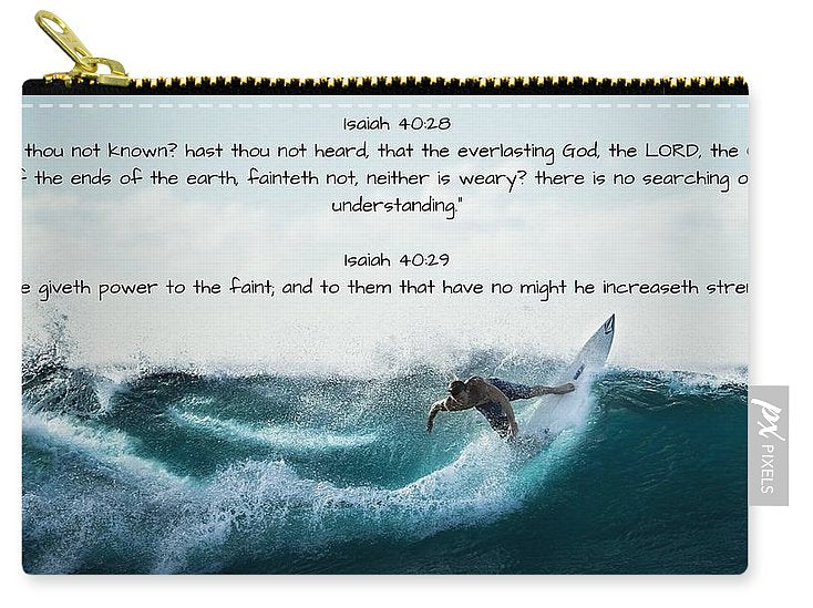 Surfer - He Gives Strength - Carry-All Pouch - Love the Lord Inc