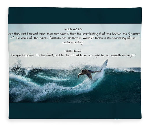 Surfer - He Gives Strength - Blanket - Love the Lord Inc