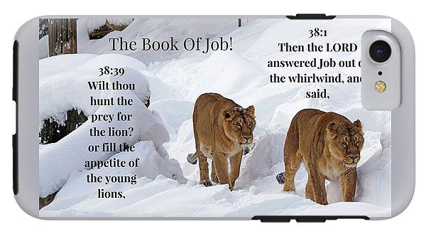 The Book Of Job 2lions - Phone Case - Love the Lord Inc