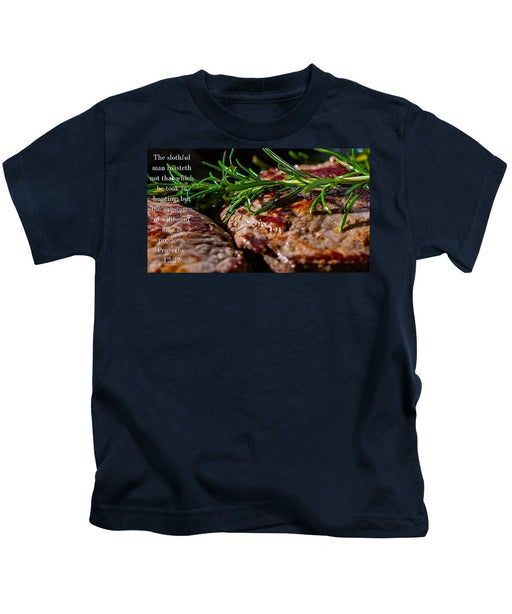 The Diligent and A Great Steak - Kids T-Shirt - Love the Lord Inc