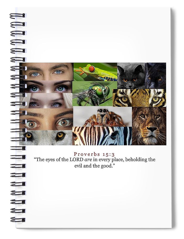 The Eyes of the Lord - Spiral Notebook - Love the Lord Inc