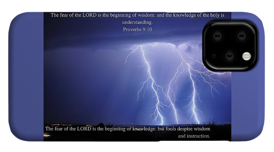 The Fear Of The Lord - Thunder - Phone Case - Love the Lord Inc
