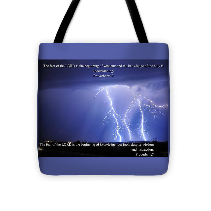 The Fear Of The Lord - Thunder - Tote Bag - Love the Lord Inc