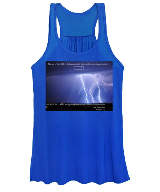 The Fear Of The Lord - Thunder - Women's Tank Top - Love the Lord Inc