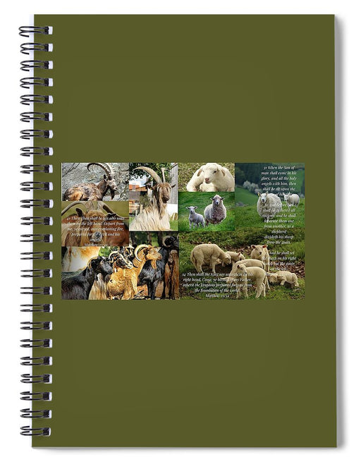 The Goats and The Sheep - Spiral Notebook - Love the Lord Inc
