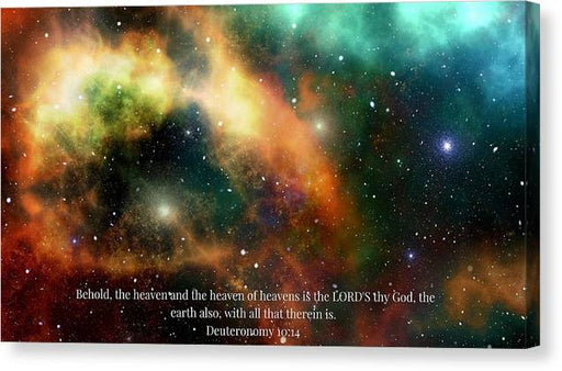The Heavens - Canvas Print - Love the Lord Inc