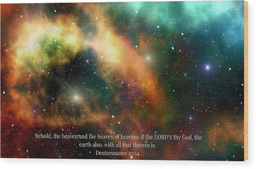 The Heavens - Wood Print - Love the Lord Inc