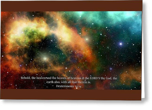 The Heavens - Greeting Card - Love the Lord Inc