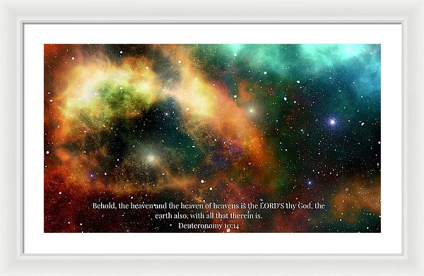 The Heavens - Framed Print - Love the Lord Inc