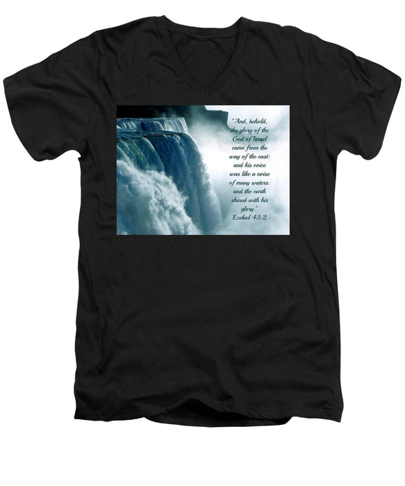 The Voice Of God - Men's V-Neck T-Shirt - Love the Lord Inc
