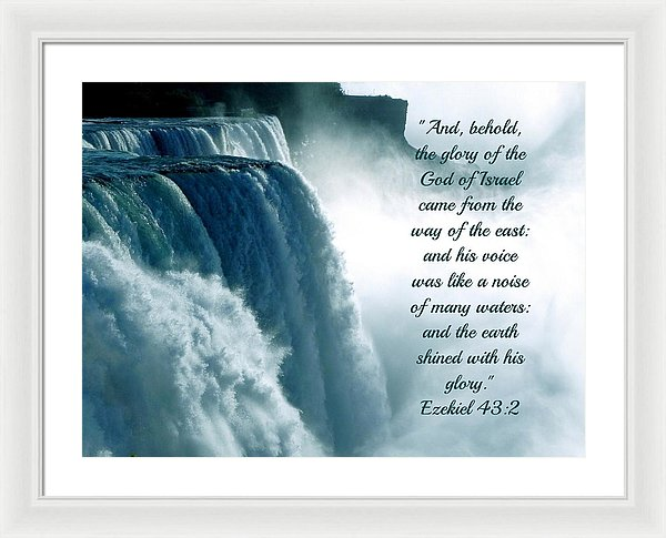 The Voice Of God - Framed Print - Love the Lord Inc