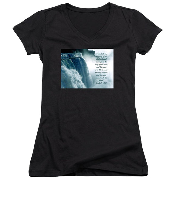 The Voice Of God - Women's V-Neck - Love the Lord Inc