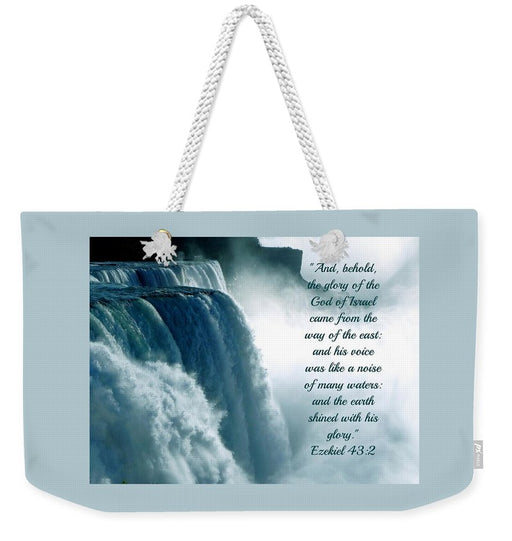 The Voice Of God - Weekender Tote Bag - Love the Lord Inc