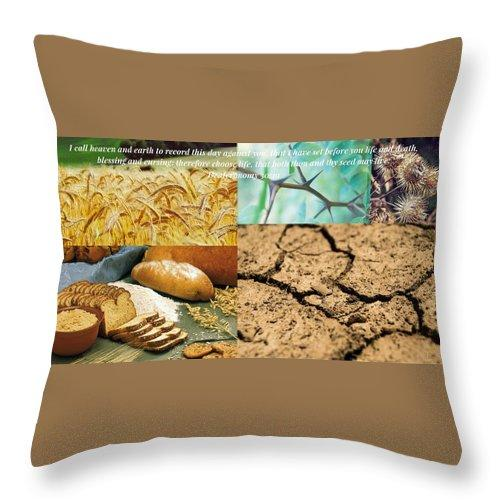 Blessing And Curses - Throw Pillow - Love the Lord Inc