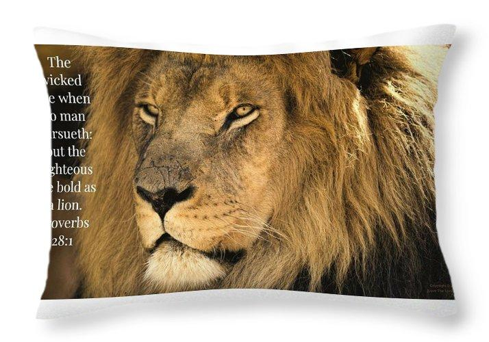 Bold As A Lion Throw Pillow Love The Lord Inc