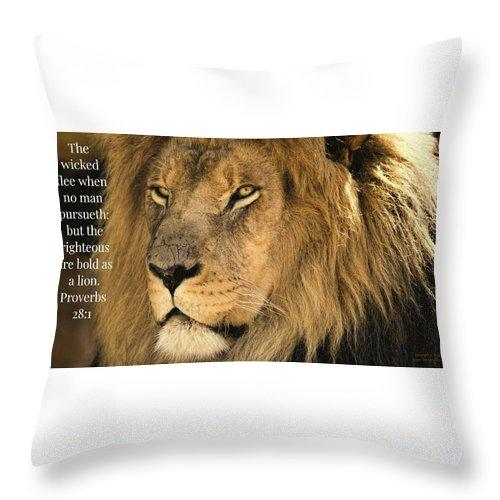 Bold As A Lion - Throw Pillow - Love the Lord Inc