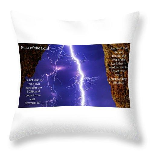 Fear Of The Lord Proverbs And Job - Throw Pillow - Love the Lord Inc