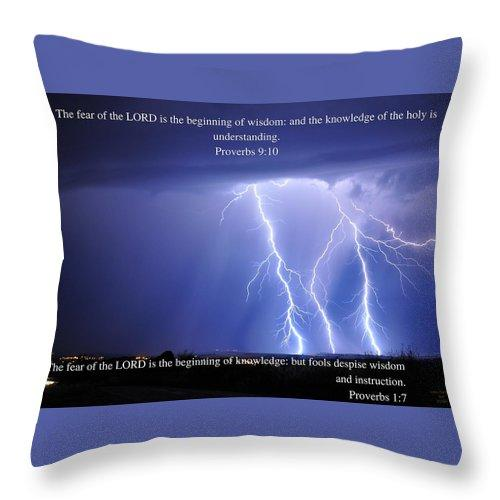 Fear Of The Lord - Thunder - Throw Pillow - Love the Lord Inc