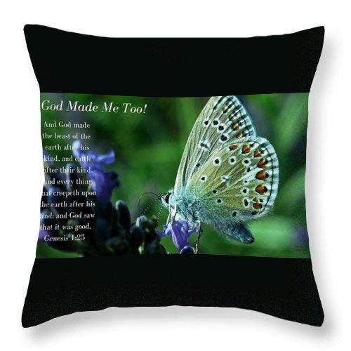 God Made Me Too - Throw Pillow - Love the Lord Inc