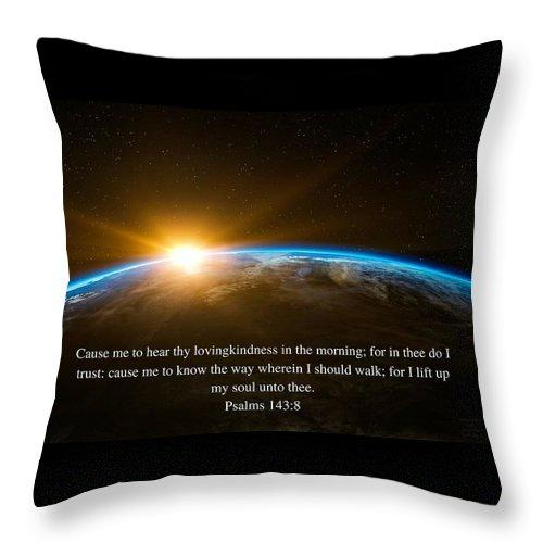 Hear Thy Lovingkindness In The Morning - Throw Pillow - Love the Lord Inc