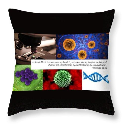 Search Me Oh Lord - Microscope - Throw Pillow - Love the Lord Inc