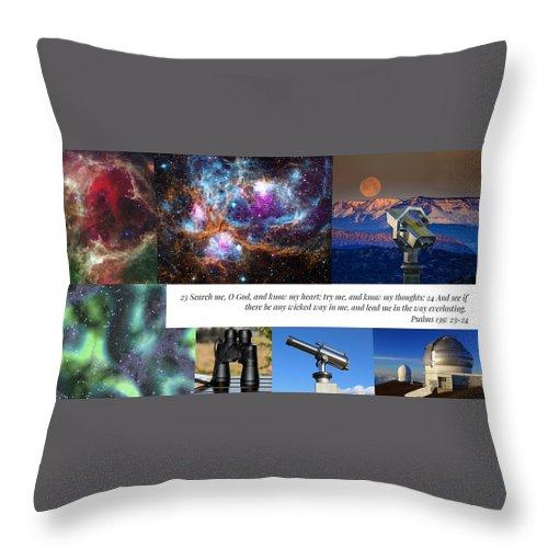Search Me Oh Lord - Telescope - Throw Pillow - Love the Lord Inc