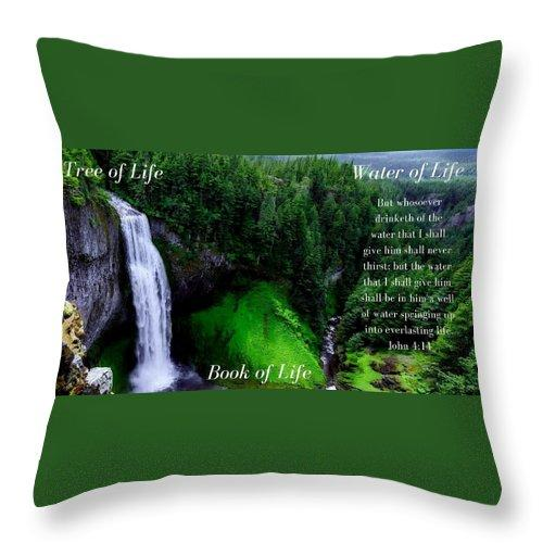 Tree Book Water Of Life - Throw Pillow - Love the Lord Inc