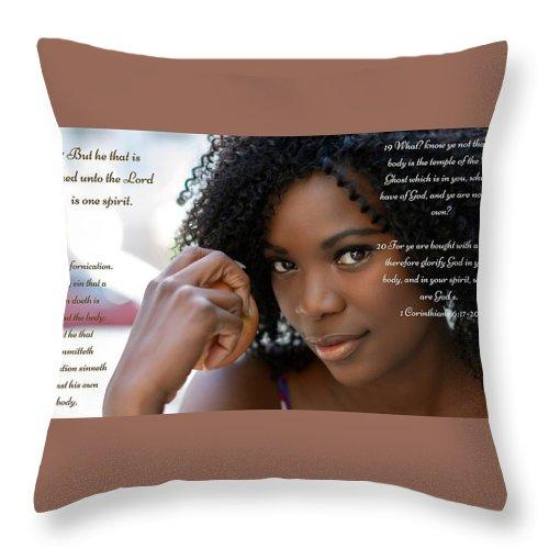 Your Body Is Not Your Own - Throw Pillow - Love the Lord Inc