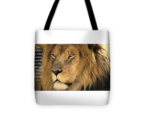 Bold As A Lion - Tote Bag - Love the Lord Inc