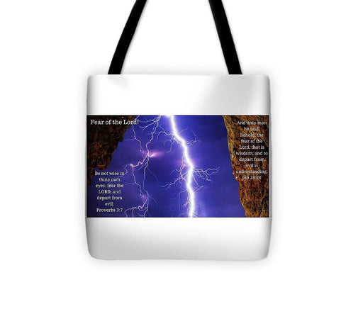 Fear Of The Lord Proverbs And Job - Tote Bag - Love the Lord Inc