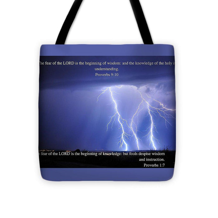 Fear Of The Lord - Thunder - Tote Bag - Love the Lord Inc