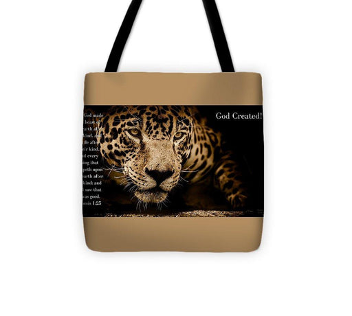 God Created Jaguar - Tote Bag - Love the Lord Inc