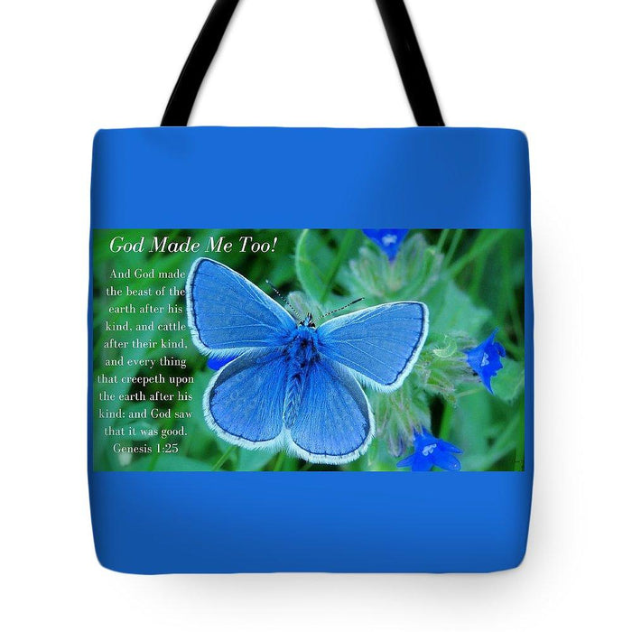 God Made Me Too Bf2 - Tote Bag - Love the Lord Inc