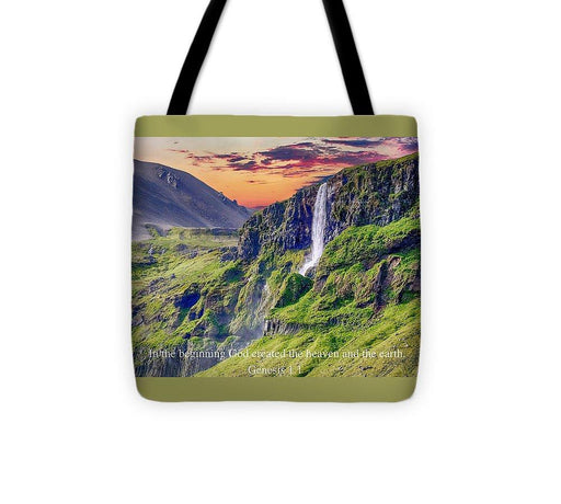 In The Beginning God Created - Tote Bag - Love the Lord Inc