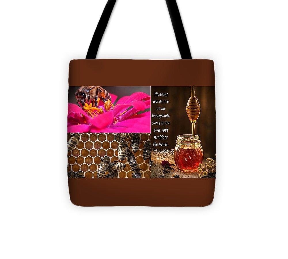 Pleasant Words And Honey - Tote Bag - Love the Lord Inc