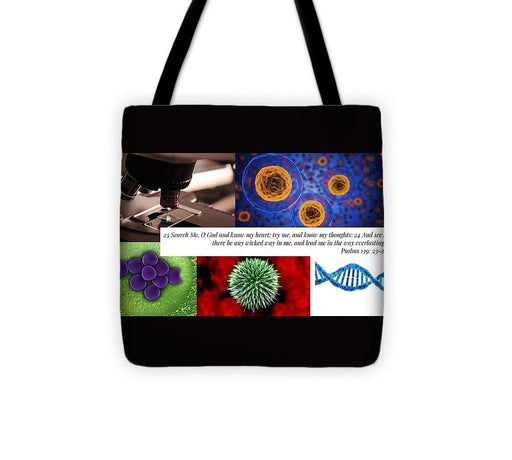 Search Me Oh Lord - Microscope - Tote Bag - Love the Lord Inc
