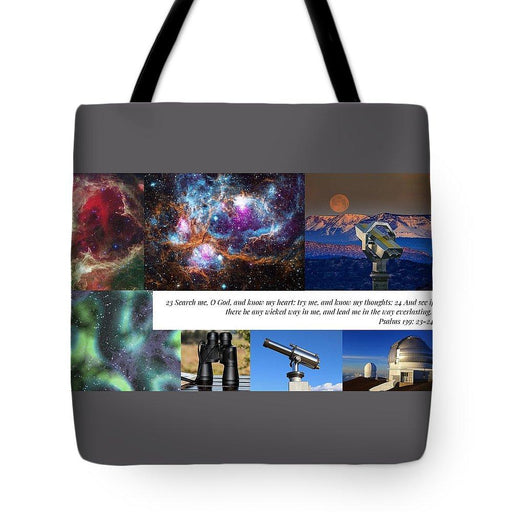 Search Me Oh Lord - Telescope - Tote Bag - Love the Lord Inc