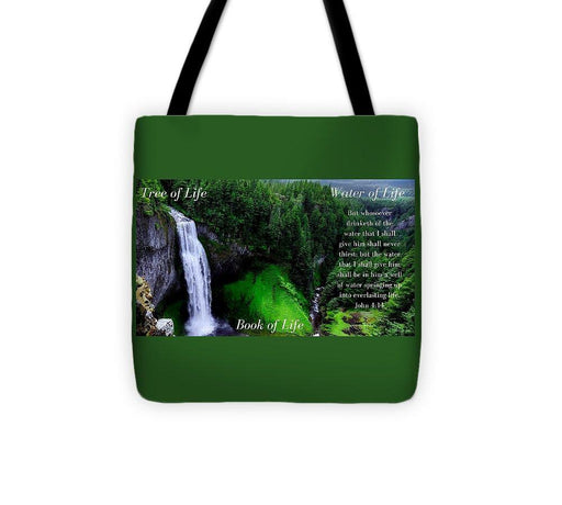 Tree Book Water Of Life - Tote Bag - Love the Lord Inc