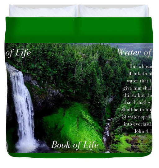 Tree Book Water Of Life - Duvet Cover - Love the Lord Inc