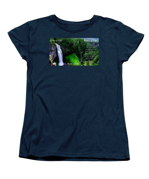 Tree Book Water Of Life - Women's T-Shirt (Standard Fit) - Love the Lord Inc