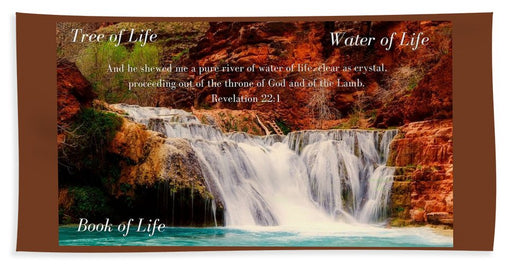 Tree Water Book of Life River - Beach Towel - Love the Lord Inc