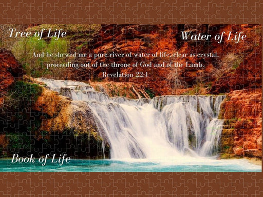 Tree Water Book of Life River - Puzzle - Love the Lord Inc