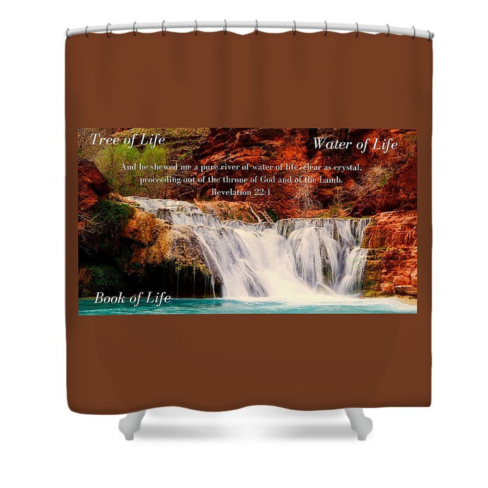 Tree Water Book of Life River - Shower Curtain - Love the Lord Inc