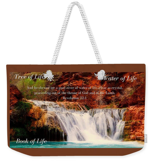 Tree Water Book of Life River - Weekender Tote Bag - Love the Lord Inc