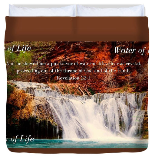 Tree Water Book of Life River - Duvet Cover - Love the Lord Inc