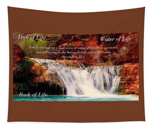 Tree Water Book of Life River - Tapestry - Love the Lord Inc