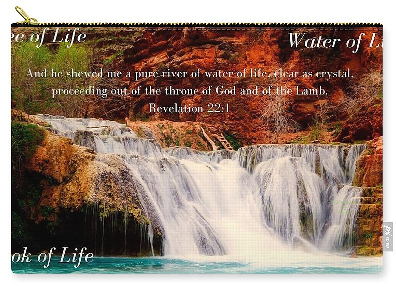Tree Water Book of Life River - Carry-All Pouch - Love the Lord Inc