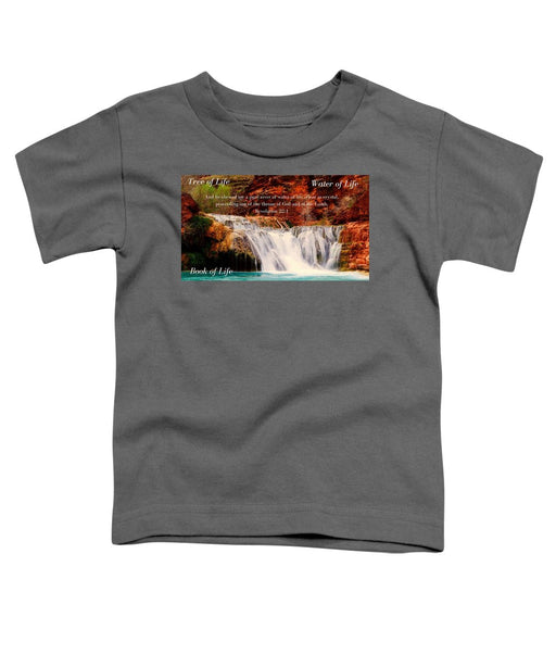 Tree Water Book of Life River - Toddler T-Shirt - Love the Lord Inc